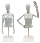 Used Female Torso Form with Flexible Arms and Finger Joints - UMJCP07