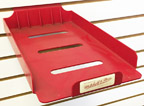 Used Slatwall Designer Brand Red Plastic Cap Holder - UMNCAP