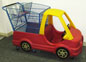 Used Plastic Shopping Cart in Blue with Kid's Car - USCCAR2