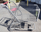 Used Metal Shopping Cart - Gray - USCGRAY