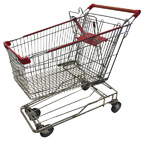 Used Metal Shopping Cart - Chrome - USCRW