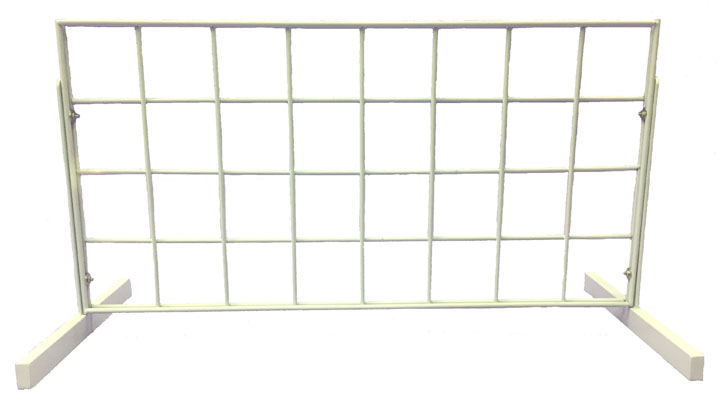 Gridwall Counter Display - White - VC24W
