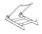 Wire-Back Folding Easel - 4in. - WBE4