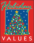 HOLIDAY VALUES Paper Poster
